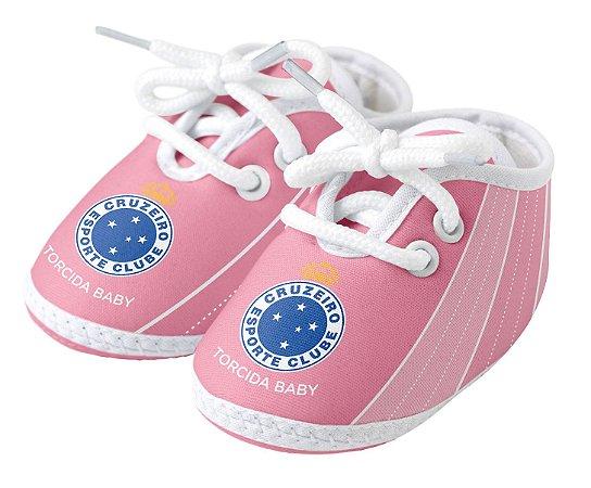Chuteira Bebê Cruzeiro Rosa Torcida Baby