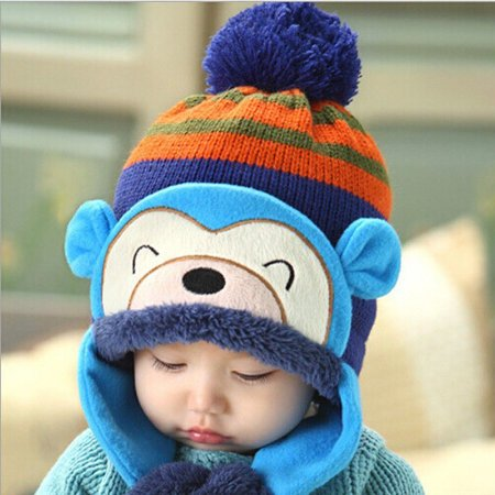 Touca Bebê Ursinho Azul