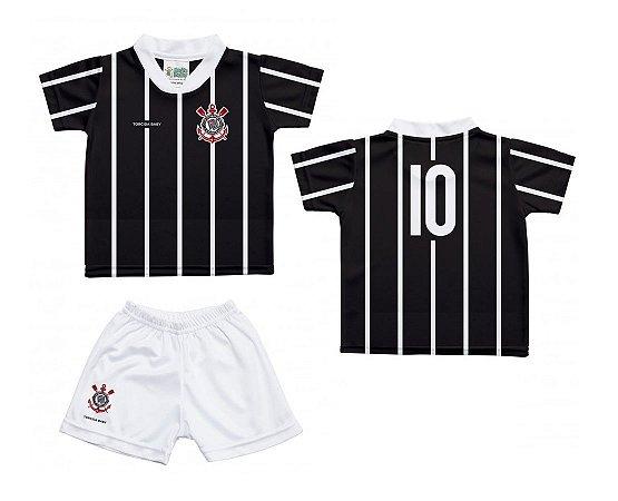 Uniforme Bebê Corinthians Oficial - Torcida Baby 24f22a944d457