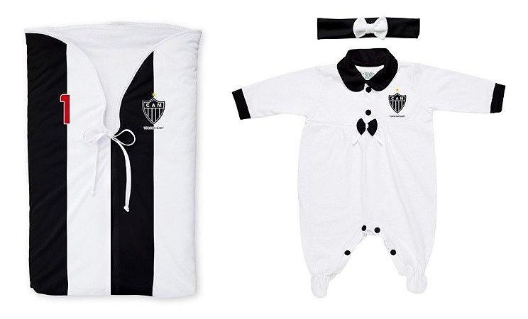 Kit Bebê Saída Maternidade Atlético MG Meninas - Torcida Baby