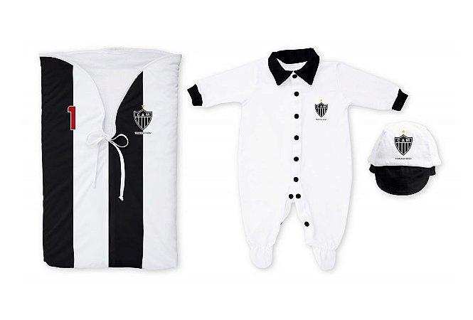 Kit Bebê Saída Maternidade Atlético MG Meninos - Torcida Baby