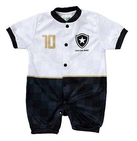 Macacão Bebê Botafogo Manga Curta - Torcida Baby