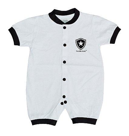 Macacão Bebê Botafogo Manga Curta Malha - Torcida Baby