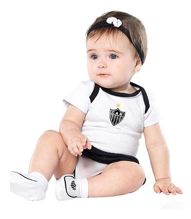 Kit Bebê Atlético MG 3 Peças Menina - Torcida Baby
