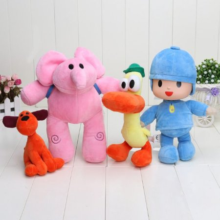 Kit Pelúcia Pocoyo Com 4 Personagens
