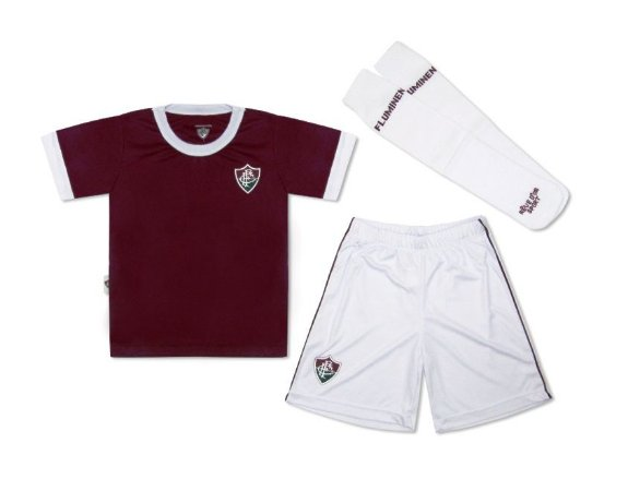 Conjunto Infantil Fluminense Uniforme Artilheiro Oficial