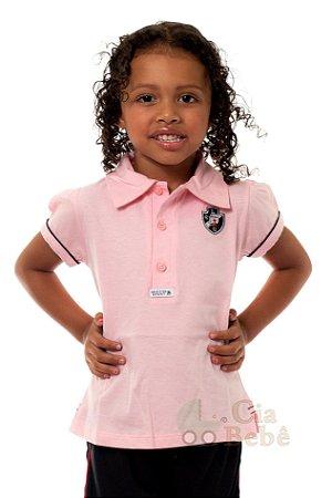 Camisa Polo Infantil Vasco Rosa Oficial