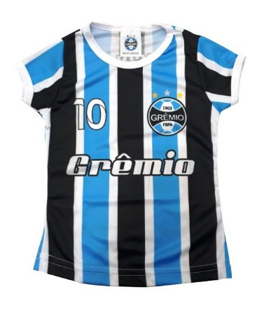 Baby Look Infantil Grêmio Dry Feminina Oficial