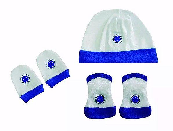 Kit Bebê 3 Pçs Cruzeiro Touca Luva e Meia Oficial