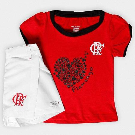 Conjunto Infantil Flamengo Short Saia Oficial