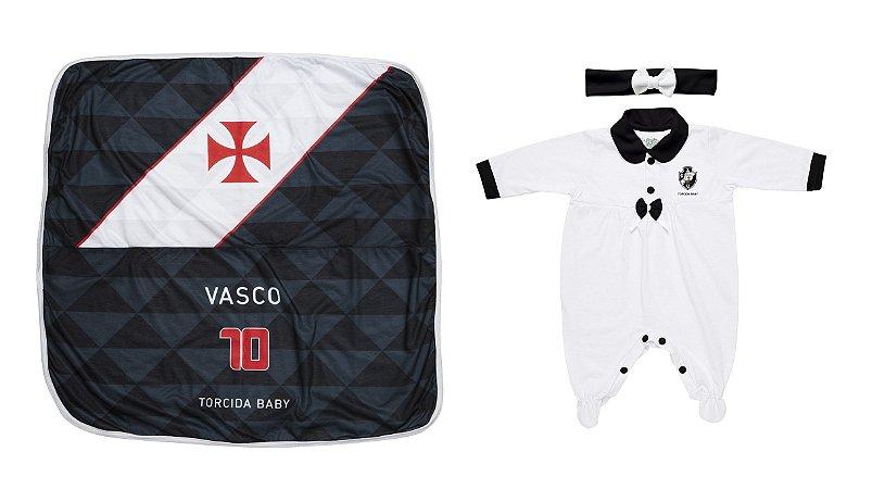 5d647a0e15 Kit Maternidade Vasco Com Manta e Tiara - Torcida Baby