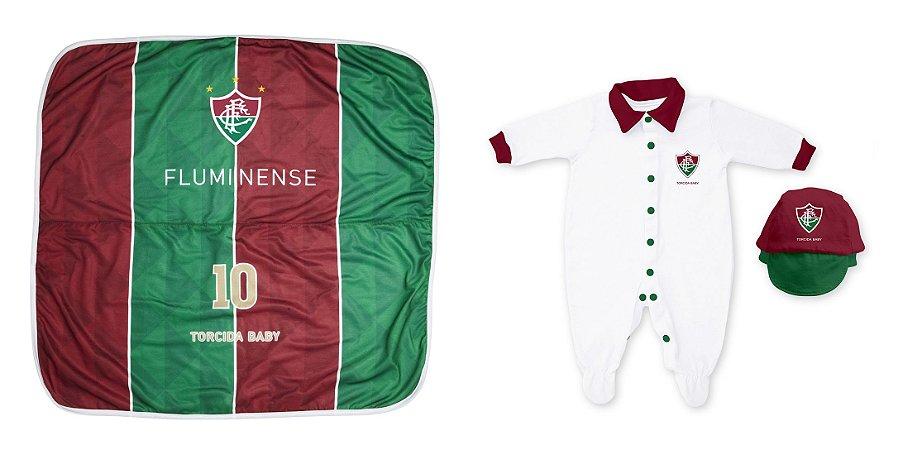 Kit Maternidade Fluminense Com Manta - Torcida Baby