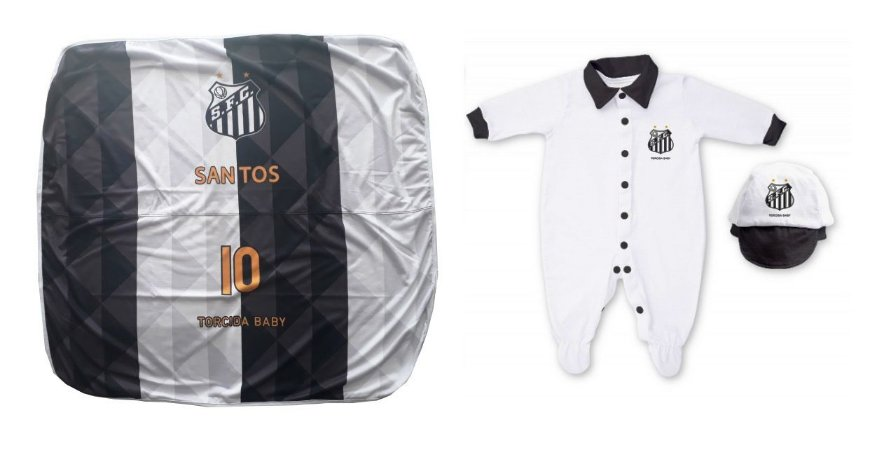 Kit Maternidade Santos Com Manta e Boné - Torcida Baby