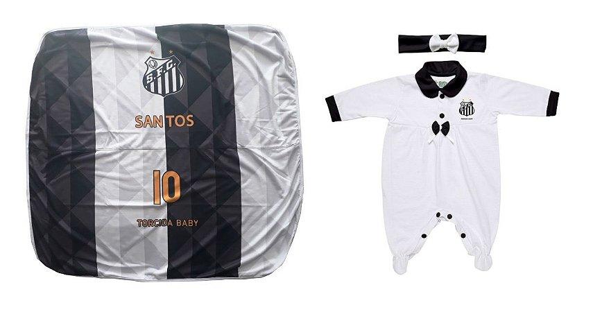 Kit Maternidade Santos Com Manta e Tiara - Torcida Baby