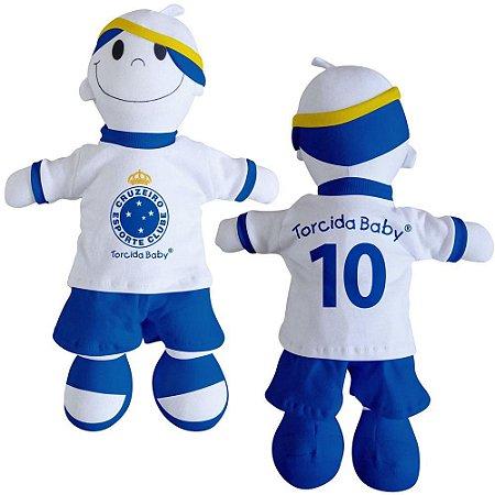 Boneco Torcedor Cruzeiro 25 cm - Torcida Baby