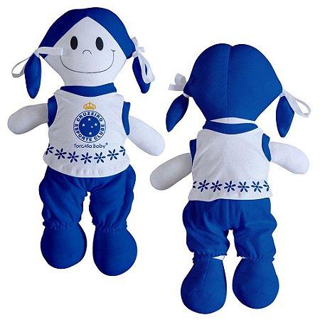 Boneca Torcedora Cruzeiro 25cm - Torcida Baby