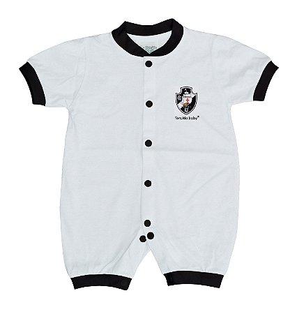Macacão Bebê Vasco Manga Curta Malha - Torcida Baby 2b23aacd09648