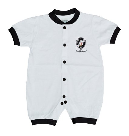 Macacão Bebê Vasco Manga Curta Malha - Torcida Baby