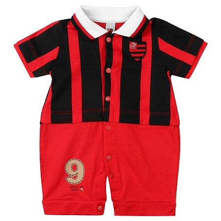 Macacão Bebê Flamengo Uniforme Campo Oficial