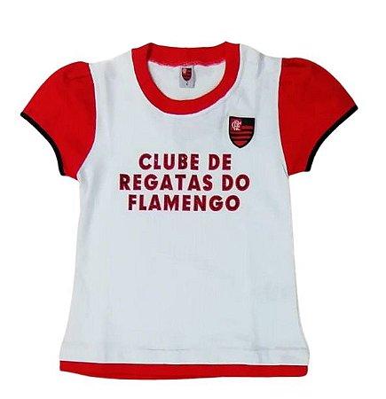 Baby Look Infantil Flamengo Oficial
