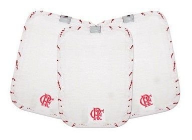 Kit 3 Toalhinhas de Boca Bebê Flamengo Oficial