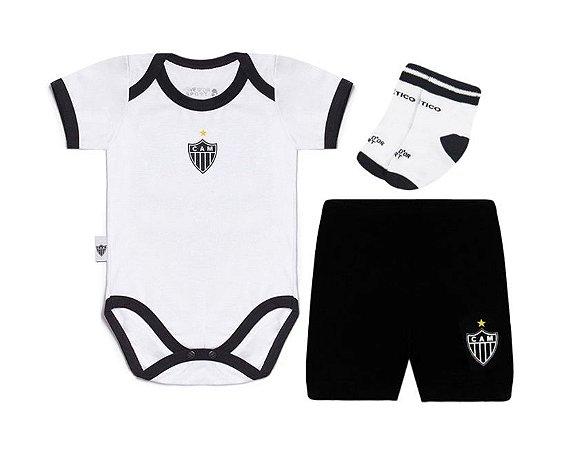 Kit Conjunto Atlético MG Body Shorts e Meia Oficial