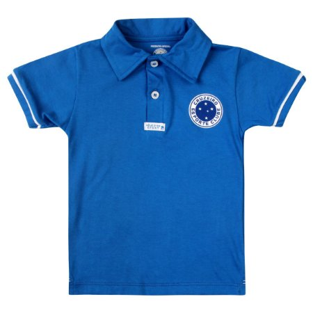 Camisa Polo Infantil Cruzeiro Azul Oficial