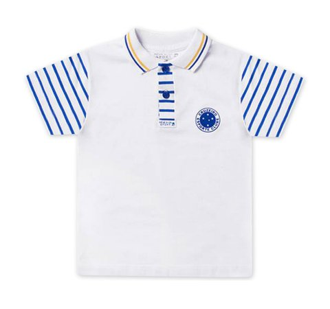 19597917eb Camiseta Polo Infantil Cruzeiro - Cia Bebê