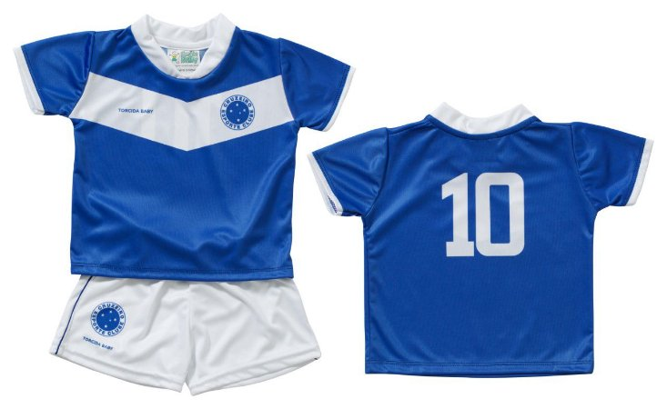 44196eb621b11 Conjunto Bebê Uniforme Cruzeiro Dry Oficial - Torcida Baby