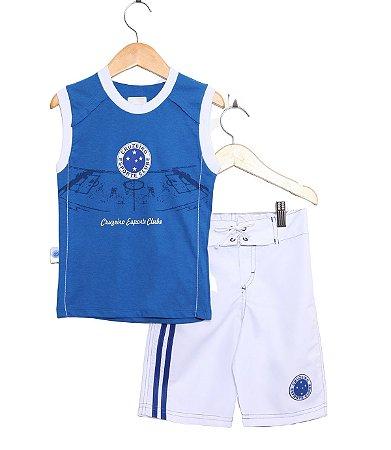 Conjunto Infantil Cruzeiro Regata Board Oficial