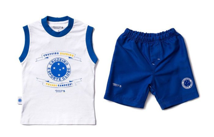 Conjunto Infantil Cruzeiro Regata Oficial