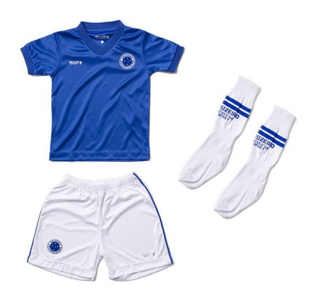 Conjunto Infantil Cruzeiro Uniforme - Cia Bebê  5a9b6b3a8e659