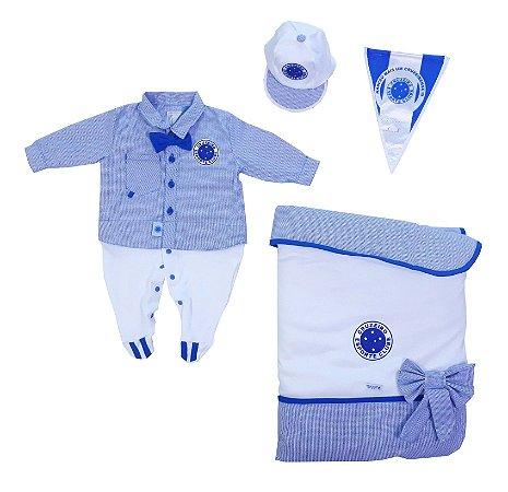 Kit Saída Maternidade Cruzeiro Luxo Meninos Oficial