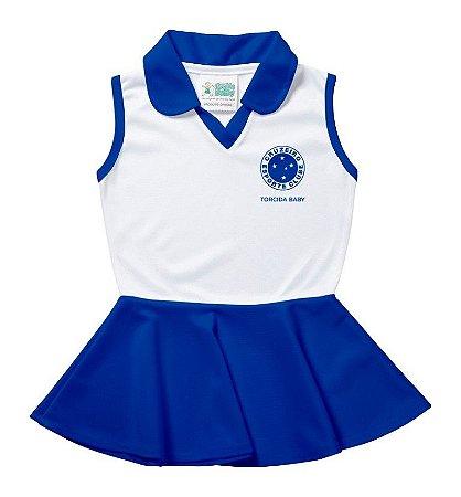 Vestido Bebê Cruzeiro Polo Oficial - Torcida Baby