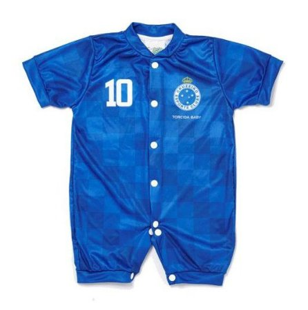Macacão Cruzeiro Bebê Curto Azul - Torcida Baby