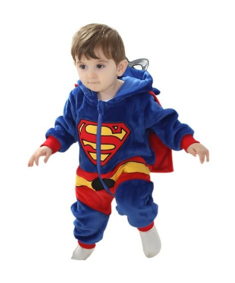Macacão Bebê Super Man Plush Luxo