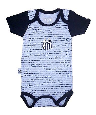 Body Santos Hino Manga Curta Oficial - Cia Bebê  597919c0bb7a0