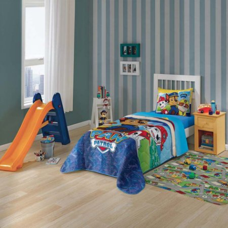 Edredom Infantil Patrulha Canina Azul 1,50m x 2,20m - Lepper