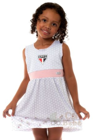 Vestido Bebê São Paulo Mascote Oficial
