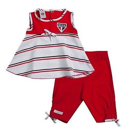 Conjunto Infantil São Paulo Bata e Legging Revedor