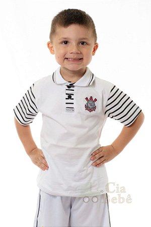 Camisa Polo Infantil Corinthians MO Oficial 6d65b74e3b9da