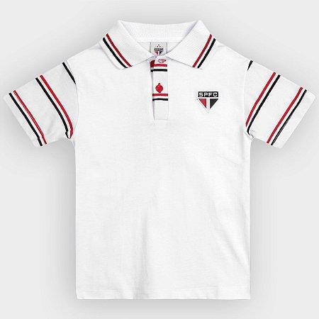 Camisa Polo Infantil São Paulo MO Oficial