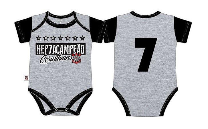 Body Corinthians Hepta Campeão Cinza Oficial