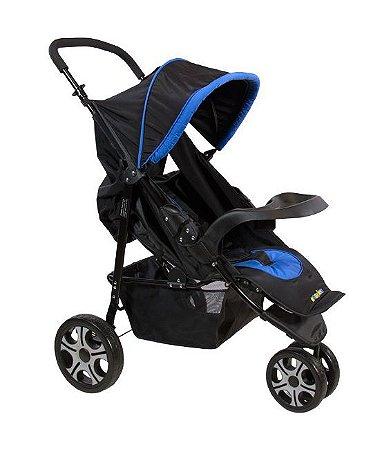 Carrinho de Bebê Madri 3 Rodas Azul Naskinha