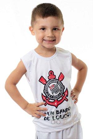 Camiseta Regata Infantil Corinthians Oficial - Cia Bebê  845b4d7258e24