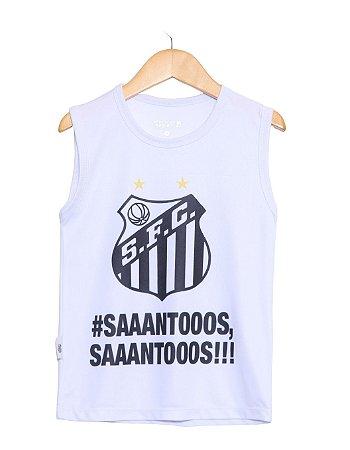 Camiseta Infantil Santos Regata Oficial