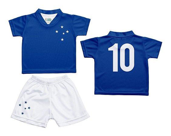 Conjunto Infantil Cruzeiro Uniforme Dry Oficial - Cia Bebê ... 41918f9d5e617