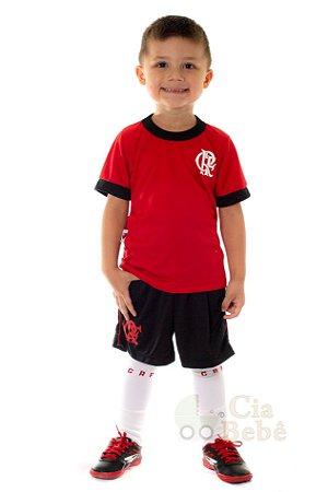 Conjunto Infantil Flamengo Uniforme Artilheiro Oficial