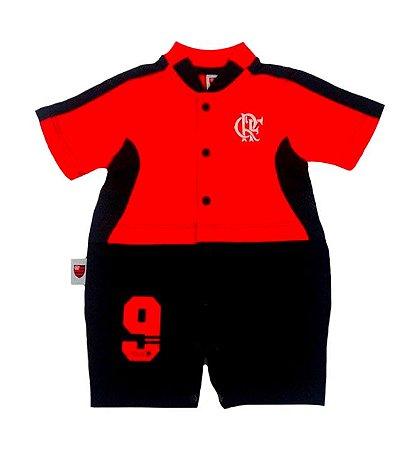 Macacão Bebê Flamengo Curto Artilheiro Oficial