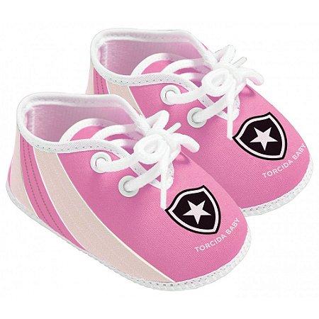 Chuteira Bebê Botafogo Rosa Oficial - Torcida Baby
